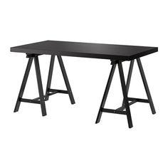 Condensed Desk/Table idea  IKEA - TORNLIDEN / ODDVALD, Table, black-brown/black,