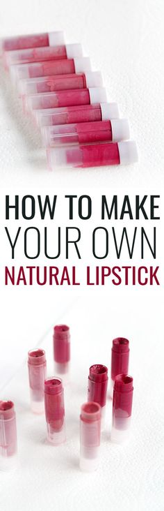 DIY Natural Lipstick Tutorial: How to Make Natural Lipstick using 4 ingredients! It's so easy to customize your own shade to perfectly match your skintone!