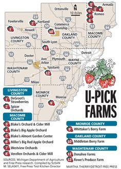 Graphic: Locator map of U-pick strawberry farms | Detroit Free Press | freep.com