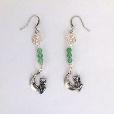 July 2015 Bird challenge earrings with owls  from B'Sue Boutiques.