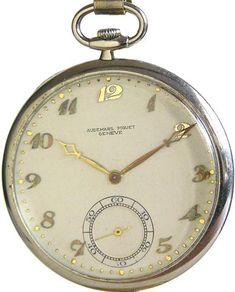 4476935fc Audemars Piguet Platinum 12 Size 19 Ruby Jewels Swiss Pocket Watch Circa  1928 Swiss Pocket Watches