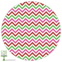 Christmas Chevron Round Cake Plate Cling, love this idea!