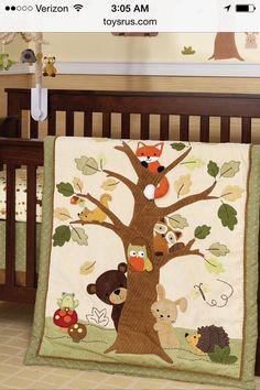 Woodland Tales 4 Piece Crib Bedding Set Baby Woodland