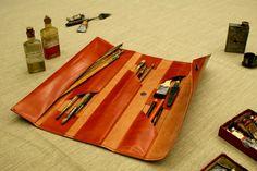 Funda de pinceles Tangram / www.puntera.com