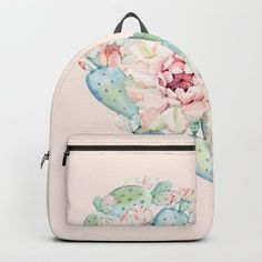 Cactus Rose Heart on Pink Backpack Cactus Backpack, Mini Backpack, Backpack Bags, Fashion Backpack, Cactus Rose, Buy Cactus, Stylish Backpacks, Cute Backpacks, Estilo Country
