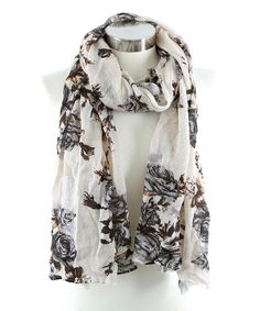 Another great find on #zulily! Ivory Floral Scarf by Betsey Johnson #zulilyfinds