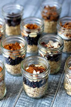 Blueberry Pie Instant Oatmeal in Jars