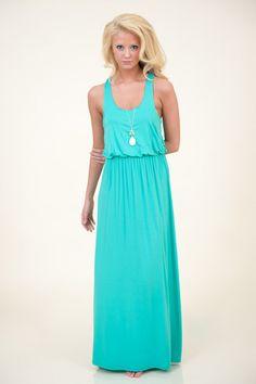 Life's A Beach Maxi Dress-Jade - Dresses | The Red Dress Boutique