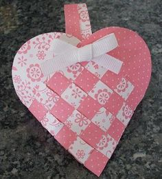 Danish Woven Hearts | Danish woven heart basket by: playingwithpaper