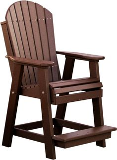 KEY FEATURES The Adirondack style translates well to this Balcony Height Chair, making it one of Luxcraft's most comfortable dining chairs. The Recycled Plastic Adirondack Balcony Chair has a sturdy b Adirondack Furniture, Adirondack Chairs For Sale, Rattan Garden Furniture, Plastic Adirondack Chairs, Deck Furniture, Balcony Chairs, Lawn Chairs, Outdoor Chairs, Outdoor Decor