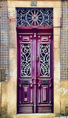 Stunning purple door.