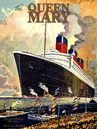 Vintage Queen Mary Ship - spent the night aboard  October 2015