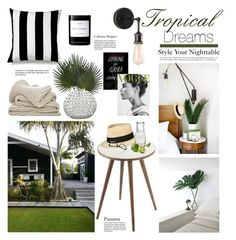 """Tropical Dreams"" by barngirl on Polyvore featuring interior, interiors, interior design, home, home decor, interior decorating, Unison, Control Brand, Zuo and Eugenia Kim"