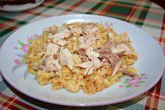 Alebo domáca tarhoňa so slepačím mäsom. Grains, Rice, Baking, Food, Bakken, Essen, Meals, Seeds, Backen