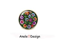 Bague cabochon floral polonais russe motif traditionnel, Amazon.fr: Handmade #jewelry #fashion #rings Amazon Fr, Folklore, Accessories, Design, Polish Language, Traditional, Boucle D'oreille, Drinkware, Pattern