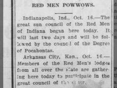 """Red Men Powwows."" #arkansas #pocahontas #greatcouncil"