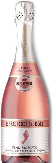 Barefoot Bubbly Pink Moscato Sparkling Champagne - deliciously sweet and bubbly!