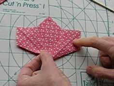 Tanabata Quilt Block Tip - Step 4 - YouTube