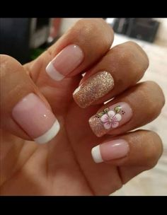 Acrylic Nail Designs Coffin, Best Acrylic Nails, Nail Polish Designs, Nail Art Designs, Short Nail Manicure, Manicure And Pedicure, Gel Nails, Dream Nails, Nail Decorations