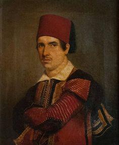 Zef Jubani wearing a traditional Albanian costume from Shkodra