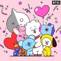 Bts Chibi, Bts Jimin, Bts Bangtan Boy, Bt 21, Bts Drawings, Line Friends, Bts Lockscreen, Cute Characters, Bts Wallpaper