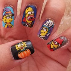 The Simpsons 'Halloween' Nails