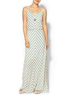 Hive & Honey Chevron Stripe Knit Maxi Dress   Piperlime