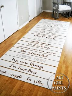 Lake Girl Paints: Painted stair risers...these are so adorable!!