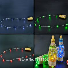 LED Festoon Cork Wine Bottle Stopper Star Christmas Tree Garland Wire String Lights New Year Vase Glass Xmas Club Bar Decoration #Affiliate