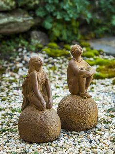 Gentil Sebille Stargazer Cast Stone Fairy Statue Made By Campania International  Fairy Statues, Garden Statues,