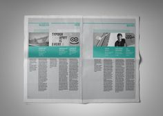"Tabloid / Newspaper ""A /LAB"" [Editorial Design] on Editorial Design Served"