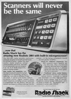 Realistic PRO-2001 Scanner 1978 Ad Picture
