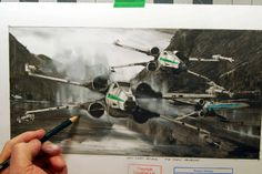 More STAR WARS: THE FORCE AWAKENS Concept Art Focuses On The Redesigned X-Wings
