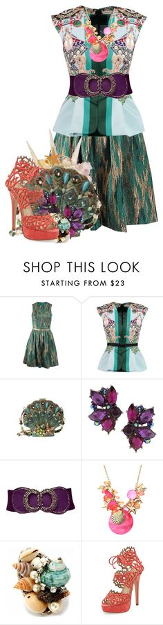 """Posea Reef"" by bluetidegirl ❤ liked on Polyvore featuring Michael Kors, Mary Katrantzou, 1928, Fantasy Jewelry Box and Charlotte Olympia"