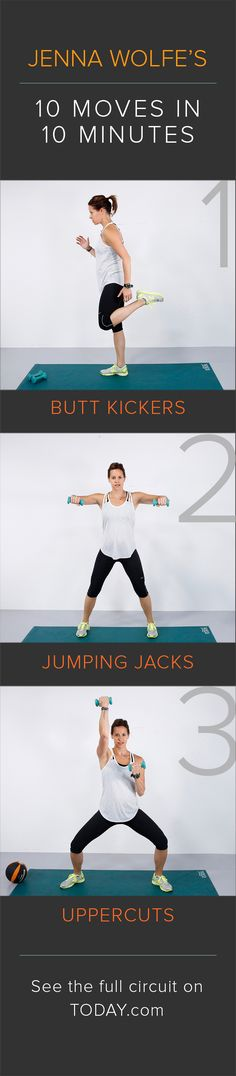 Try these 10 moves in 10 minutes: The fast total body workout you can do at home