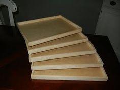 DIY wooden trays