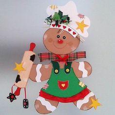 Fensterbild Lebkuchenfrau -Weihnachten-Dekoration - Tonkarton!