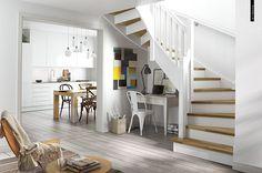 Scandanavian stairs CGI interior on Behance