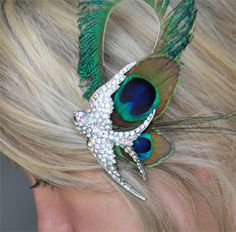 Lovely peacock piece for hair.