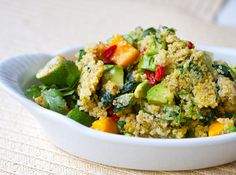 Mango Avocado Superfood Quinoa - cold, healthy, lunch ideas for kids.