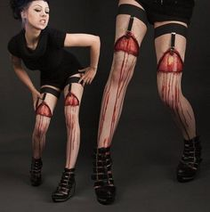 zombie stockings---so gross but I can't stop looking at it