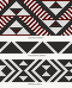 Tāniko designs – Māori weaving and tukutuku – te raranga me te whatu – Te Ara Encyclopedia o Weaving Designs, Weaving Patterns, Knitting Patterns, Crochet Patterns, Maori Designs, Flax Weaving, Weaving Art, Maori Patterns, Style Patterns