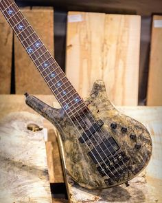 """Thumb 5 string with 1"""" Buckeye Burl top, Bubinga Pommelé back, Snakewood fingerboard wood, Wenge neck and Purpleheart neck lamination #warwick #framus #warwickbass #framusguitar #bass #guitar #instrument #music #musician #sound #strings #wood #woodporn #play #player #color #colorful #amps #amplification #acoustic #acousticguitar"""