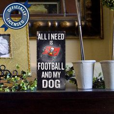 Officially Licensed Tampa Bay Football and Dog Sign