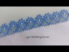Crochet Boarders, Crochet Edging Patterns, Baby Knitting Patterns, Crochet Ruffle, Crochet Flower Tutorial, Crochet Flowers, Filet Crochet, Saree Tassels Designs, Flower Model
