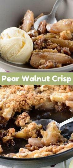 Serve this rustic fall Pear Crisp with a scoop of vanilla ice cream on top and prepare to be amazed at the delightful taste.