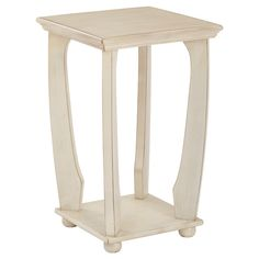 Mila Square Accent Table - Antique White - Office Star Products