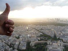 Vista de Paris em cima da Torre Eiffel-julho de 2010