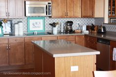 Kitchen backsplash, pantry or bathroom upgrade - vinyl quatrefoil design -. $5.50, via Etsy.