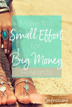 Cost savings ideas + tips for how to make a small effort now that will continue to reap you larger money gains in the future! | http://www.frugalconfessions.com/save-me-money/small-effort-big-rewards.php